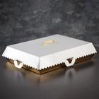 Упаковка для пирожных, BON BON, премиум, золотое основание, 42,5 x 32,5 x 10 см