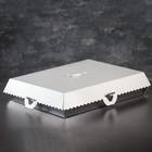 Упаковка для пирожных, BON BON, премиум, серебряное основание, 42,5 x 32,5 x 10 см