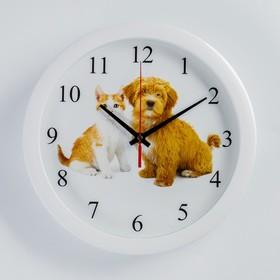 Часы настенные круглые 'Дружба', 28х28 см Ош