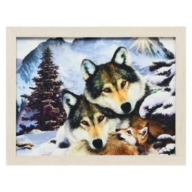 Гобеленовая картина 'Семья волков' 34*44 см Ош