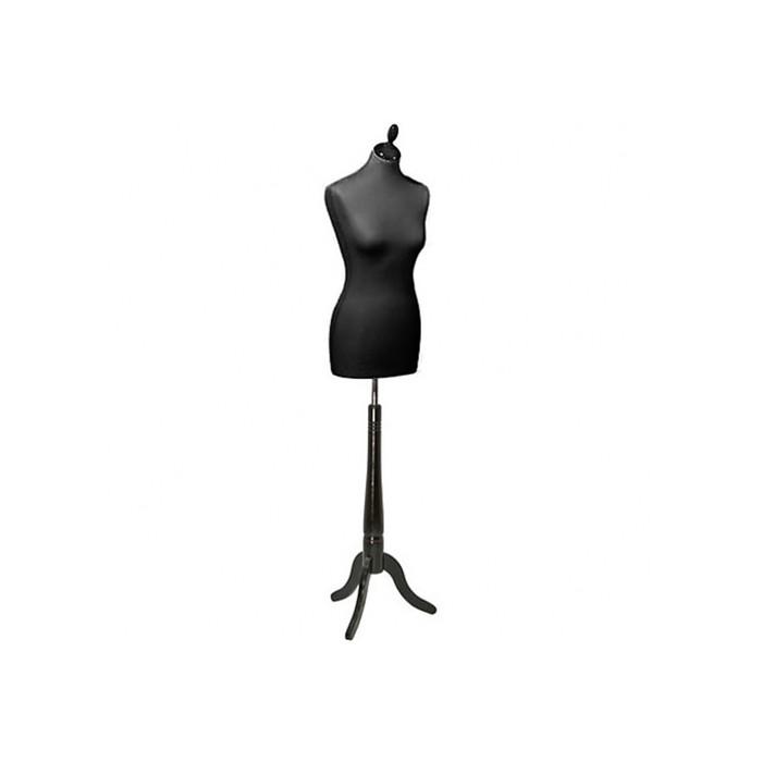Манекен женский портновский, размер 42-44, 84*65*88, чёрный