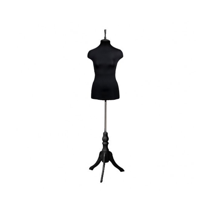 Манекен женский портновский, размер 46-48, 91*73*101, чёрный