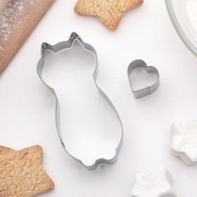 Набор форм для вырезания печенья 'Кошечка', 2 шт Ош