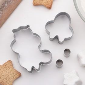 Набор форм для вырезания печенья 'Белка', 4 шт Ош