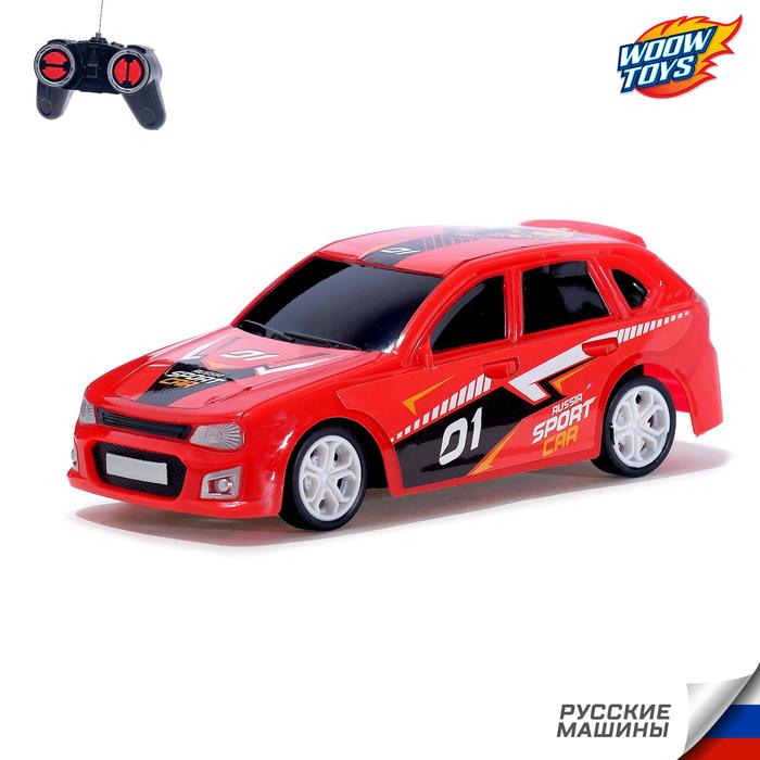 Машина радиоуправляемая «RUS Авто - Sport Car», работает от батареек, цвет красный