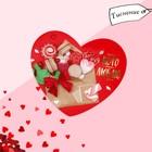 Открытка?валентинка «Тому Кого очень Люблю», сладости,7.1 x 6.1 см