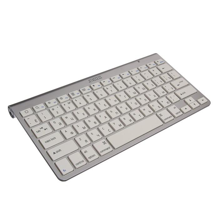 Клавиатура Jet.A K9 BT SlimLine, беспроводная, компактная, 78 клавиш, bluetooth, серебристая