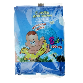 """Природная соль для ванн """"Морской конёк"""" """"Череда и ромашка"""", 500 г"""