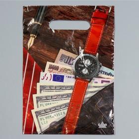 Пакет 'Мужской NEW', полиэтиленовый с вырубной ручкой, 20 х 30 см, 30 мкм Ош