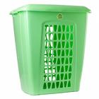 """Корзина для белья прямоугольная с крышкой 60 л """"Молетта"""" , цвет зеленый"""