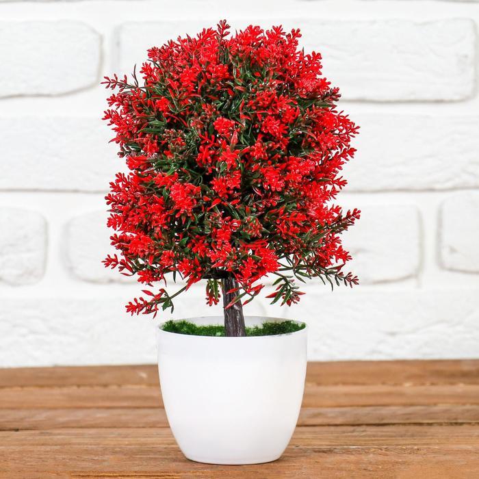 """Бонсай """"Пышное деревце с цветами"""" 12*25 см, микс"""
