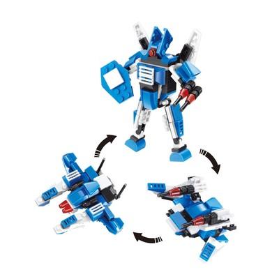 Конструктор «Робот», 3 варианта сборки, 105 деталей, в пакете - Фото 1