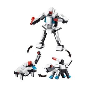 Конструктор «Робот», 3 варианта сборки, 115 деталей, в пакете Ош