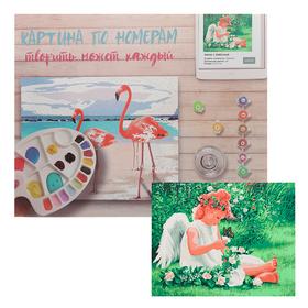 Картина по номерам «Ангел с бабочкой» 40х50 см