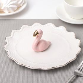 "Тарелка десертная 20 см ""Золотой фламинго"""
