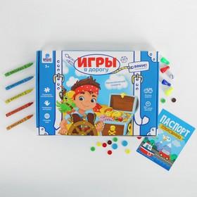 """Развивающий набор для творчества """"Приключения пирата"""" , карандаши, пластилин"""