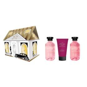 """Подарочный набор Skin Juice """"Домик"""": Гель для душа 270 мл + SPA-маска для рук 75 мл + пена для ванн 270 мл"""