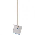 Лопата алюминиевая, ковш 600 × 400 мм, с планкой, деревянный черенок, «Сибртех»