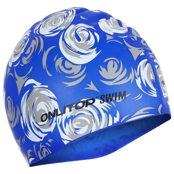 Шапочка для плавания, взрослая, силикон, цвета МИКС
