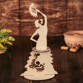 Салфетница «Танцовщица с веером», 25×14,5×0,3 см