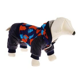 Комбинезон для собак на меховом подкладе с капюшоном, размер L Ош