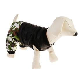 Комбинезон для собак на меховом подкладе с отстегивающимися штанами, размер L Ош