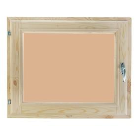 Окно, 60×70см, однокамерный стеклопакет, тонированное, из хвои Ош