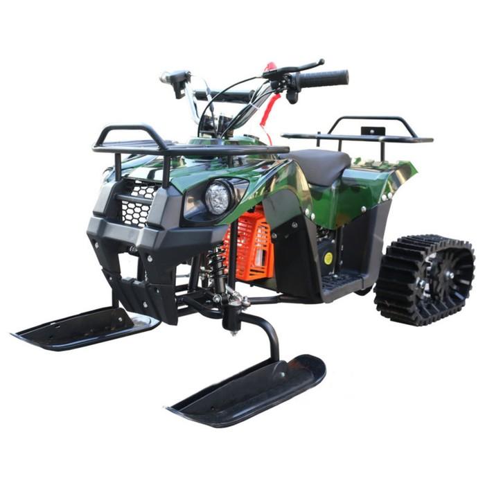 Снегоцикл бензиновый Mini-Grizlik Snow, 3,5 л.с., зеленый комуфляж