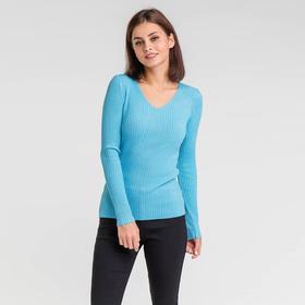 Пуловер с люрексом шнуровка сзади, размер 42, цвет голубой Ош