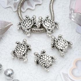 Талисман 'Черепаха', цвет серебро Ош
