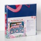 Постельное бельё «Экономь и Я» Фламинго (вид 2) 2 сп. 175×215 см, 200×220 см, 50×70 см - 2 шт, микрофайбер, 75 г/м² - Фото 4