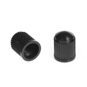 Колпачок на вентиль пластиковый, черный, фасовка 100 шт Ош