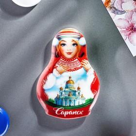 Магнит в форме матрёшки «Саранск. Кафедральный собор Феодора Ушакова» Ош