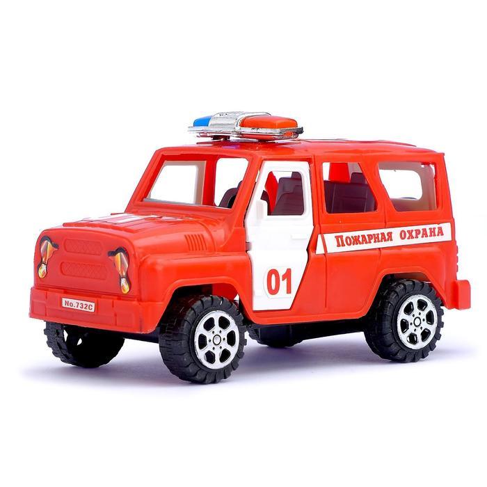 """Машина инерционная """"Пожарная охрана"""", с открывающимися дверьми"""