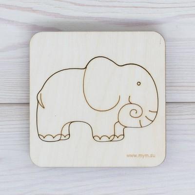 Деревянная головоломка вкладыш «Слон»