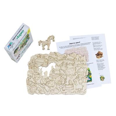Деревянная мозаика-раскраска «Ферма» - Фото 1