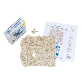 Деревянная мозаика-раскраска «Арктика»