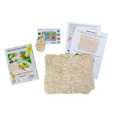 Деревянная мозаика-раскраска «Австралия» - Фото 1