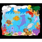 Деревянная мозаика-раскраска «Океан» - Фото 3