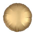 """Шар фольгированный 5"""" «Круг» с клапаном, матовый, цвет золотой"""