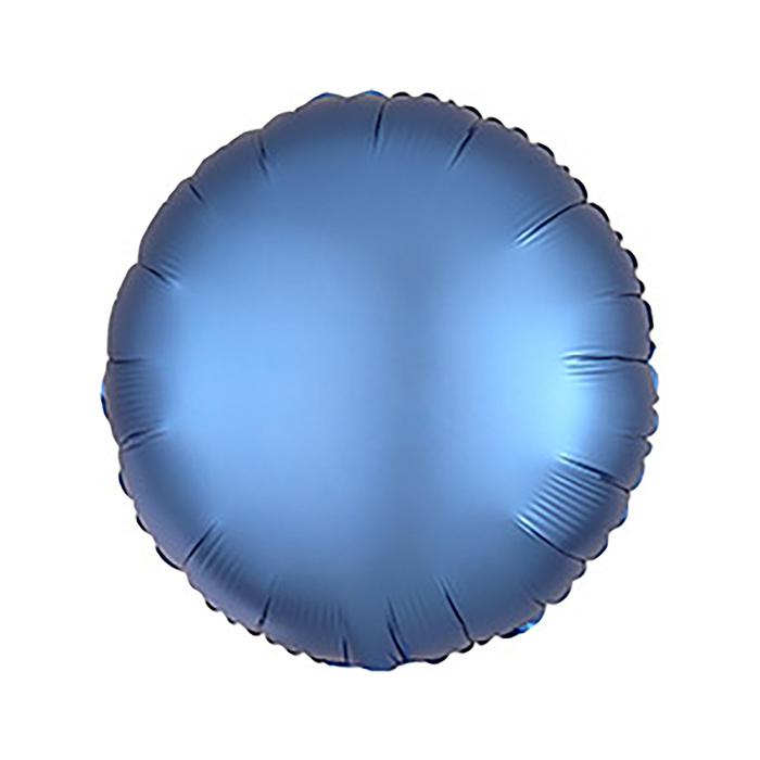 Шар фольгированный 5 Круг с клапаном, матовый, цвет синий
