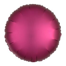 Шар фольгированный 5' «Круг» с клапаном, матовый, цвет красный Ош