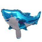 """Шар фольгированный 14"""" «Акула» с клапаном"""