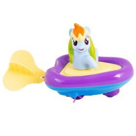 Игровой набор для ванны «Мой маленький пони. Рейнбоу Дэш» в заводной лодочке