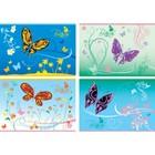 Альбом для рисования А4, 40 листов Butterfly, обложка мелованный картон, выборочный лак, блок 100 г/м2, МИКС