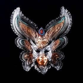 Венецианская маска 'Бабочка' 25см   золото Ош