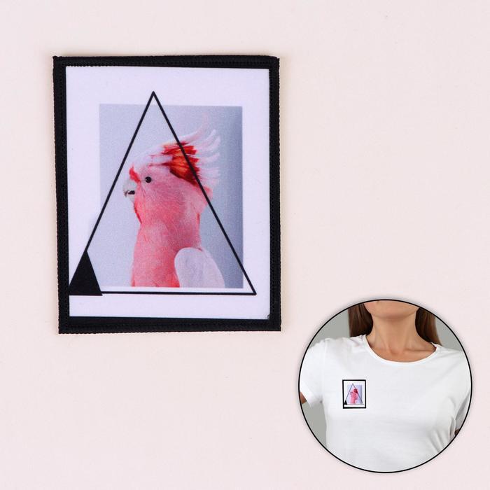 Пришивная аппликация «Попугай», 10 × 8 см