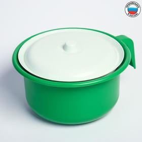 Горшок детский с крышкой, цвет зелёный Ош