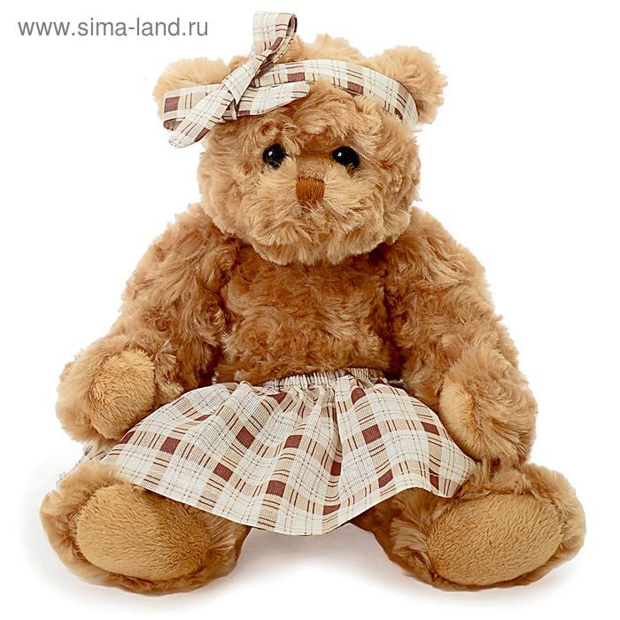 Мягкая игрушка «Медведица» в юбке с бантом, 30 см, цвет МИКС