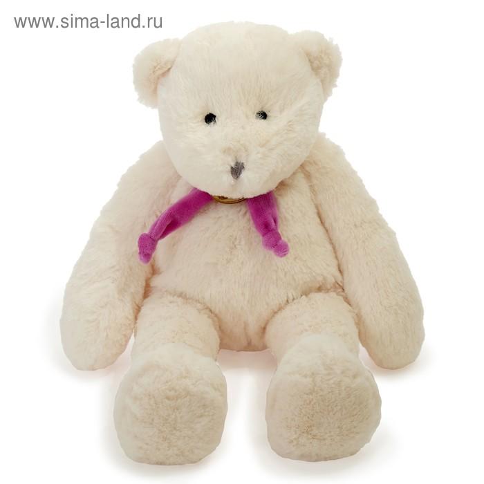 Мягкая игрушка «Медведь», цвет белый/фиолетовый, 40 см
